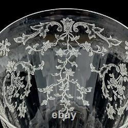 12 Fostoria Navarre Crystal Etched Water Wine Glasses Stemware7 3/4 Vintage AB2