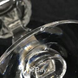 12 VINTAGE TIFFIN PRISTINE CUT CRYSTAL GLASSES GOBLETS WATER WINE 1960s