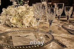 12 x Wine Glasses Crystal Cut Glass Style Luxury Bar Vintage High End glassware