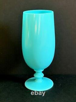 1 VINTAGE 1930's PORTIEUX VALLERYSTHAL BLUE OPALINE 7 WATER WINE GOBLET