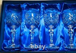 (2) Boxes of VINTAGE BOHEMIA Crystal Wine (4) Sherry(6) Including HENRY MARCHANT