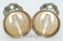 2 Vintage Sterling Silver Wine Goblets Cups Glasses, Camusso Peru, 290g