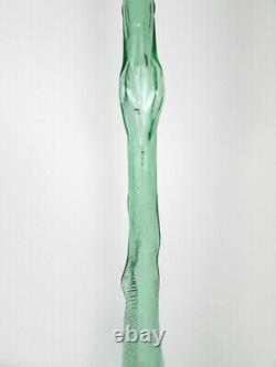 32 Large Vtg Snail Shaped Empty Green Wine Bottle Italian Glass Art Sculpture
