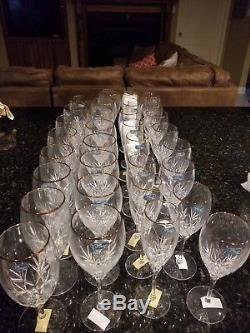 32 vintage JG Durand France Agena wine and champagne glasses