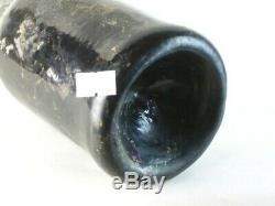 38587 Old Antique Vintage Freeblown Black Glass Wine Pontil English Mallet