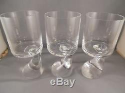 3 Vintage Riedel Joe Colombo Wine Goblets Glasses Asymmetric Asimmetrico 5 7/8