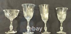45 Pc Vintage Fostoria Lead Crystal, Kimberly, Water, Wine, Sherbet, Flutes