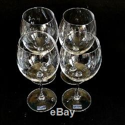 4 (Four) WATERFORD Marquis VINTAGE Crystal Red Wine Glasses Signed w Tag-DISCONT
