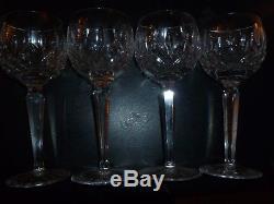 4 VINTAGE WATERFORD LISMORE BALLOON Wine Hock Glasses 7 3/8
