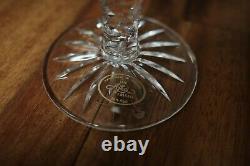 4 Vintage Ajka Amethyst Cut-to-clear Long Stem Crystal Purple Wine/flute Glass