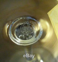 4 Vintage Baccarat France Crystal TASTEVIN Pommard Burgundy Red Wine Unused 7½