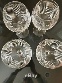 4 Vintage Ralph Lauren Herringbone Birdbath Goblets 8 3/4 EUC