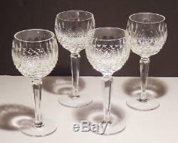 4 Vintage Waterford Crystal Colleen Wine Hock Glasses 7 3/8 Made In Ireland