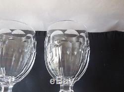 4 Vintage Waterford Crystal Curraghmore Water or Wine Goblets Old Mark Excellent