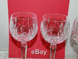 4 Vintage Waterford Crystal Lismore Balloon Wine Glasses Stems