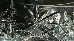 5 ELEGANT Crystal 6 Oz Wine Champagne Glasses Stems CUT GLASS CUPS PANELED STEMS