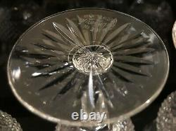 5 Vintage Scottish Edinburgh Crystal Thistle Wine / Sherry Glasses (signed)