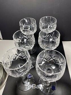 6 Beautiful Vintage Stuart Crystal Hock Wine Glasses. Glengarry Pattern