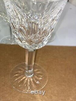 6 EUC Waterford Lismore Gothic Font Heavier Vintage Claret Wine Glasses 5 7/8