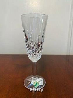 6 New with Tags Vintage WATERFORD CRYSTAL Lismore Champagne Wine Flutes IRELAND
