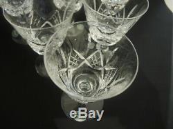 6 Vintage Stuart Crystal Glengarry Cambridge wine glasses #4
