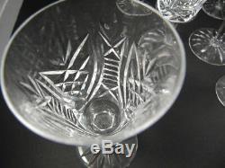 6 Vintage Waterford Crystal Clare Dessert or Port Wine Glasses