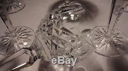 6 Vintage Waterford Crystal Kenmare Wine Hock Glasses 7 3/8 Ireland