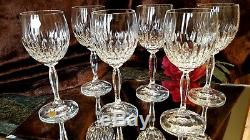 6 Vntg 7oz Crystal Wine Glasses Goblets Bleikristall Cristallerie Zwiesel German