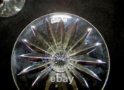 6 Waterford Lismore Claret Wine Glasses 5 7/8 Vintage Deep Cut Irish Crystal