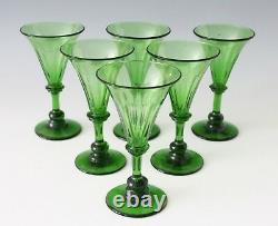 6x an antique crystal White Wine, Rhine wine, Glass, made ca. 1840 England