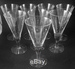 8 Vintage Holmegaard Clausholm White Wine glasses glasses Per Lutkin 1957