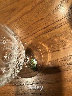 8 Vintage Unused Waterford Crystal 51/8 Short Wine Glasses Colleen Pattern