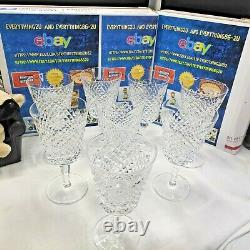 8 Vintage Waterford Alana Water Or Wine Glasses 6 7/8 Made In Ireland
