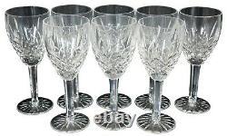 8 Vintage Waterford Cut Crystal Araglin Wine Water Goblets Glasses 7