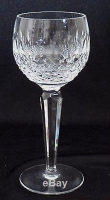 (8) WATERFORD COLLEEN WINE HOCK GLASSES MARKED 7 1/2 Vintage EXCELLENT
