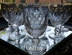 (8) WATERFORD CRYSTAL Colleen Pattern WHITE Wine Glasses 4 3/4 Vintage SIGNED