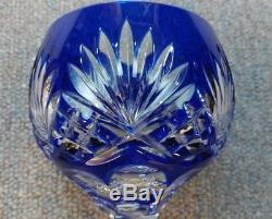 AJKA Cut to Clear Colored Crystal Hock Vtg Wine Goblet Glasses Marsala Set of 3
