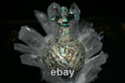 A Very Lovely Ancient Roman glass wine water jug c 4th-5th century CE