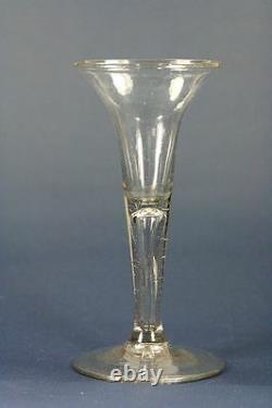 Antique 18th Century Wine Glass, ca. 1750, 16 cm / 6.3 inch