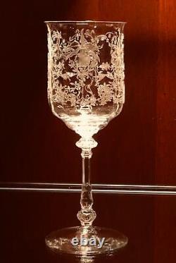 Antique Clear Cut Crystal Cognac Liquor Wine Decanter Vtg