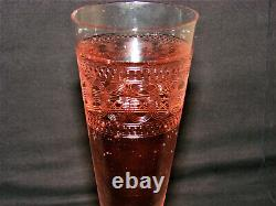 Antique Flute To Wine Of Champagne X 7 Glass Cup Antique French