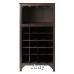 Antique Liquer Cabinet Wine Glasses Rack Locker Bottle Storage Holder Wooden Bar