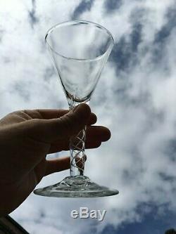 Antique Vintage Double Air Twist Wine Cordial Glass-2