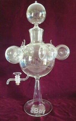 Antique Vtg Italian Blown Glass Dispenser Samovar Tea Wine Set, Bimini Salviati