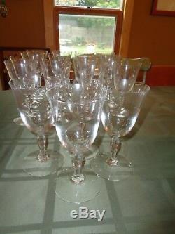 Baccarat Clara Crystal Water Red White Wine Goblet Glass Lot set x 4 6oz Vintage