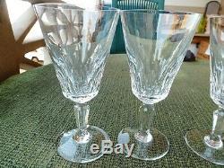 Baccarat Crystal Signed Set Of 5 Vintage Carcassone 5 5/8 Claret Stemmed Wines