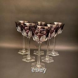 Baccarat Crystal Vintage Amethyst Malmaison Wine Glasses