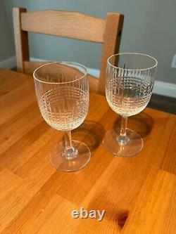 Baccarat Nancy Claret Wine Glasses Set of 2 Vintage Cut Crystal France