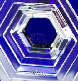 Baccarat Orsay Cobalt Blue Water Wine Goblet Glass Vintage Crystal France 4.5