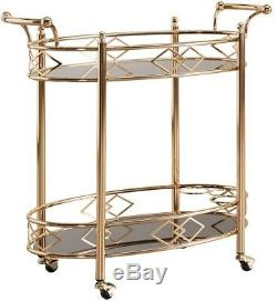 Bar Cart Top Trolley Kitchen Dining Room Hostess Party Wine Rack Vintage Decor